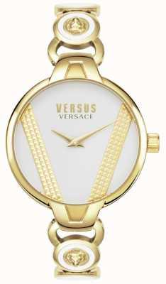 Versus Versace | saint germain | acier inoxydable plaqué or | cadran blanc | VSPER0219