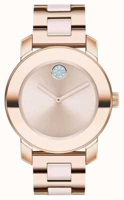 Movado Audacieux | bracelet plaqué or rose | cadran en or rose | 3600639