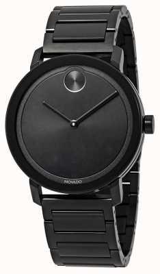 Movado | audacieux | bracelet en acier inoxydable noir | cadran noir | 3600538