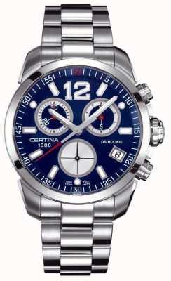 Certina Ds recrue | chronographe | cadran bleu | acier inoxydable C0164171104700
