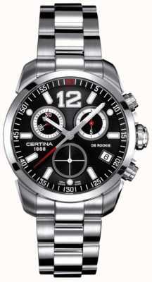 Certina Ds recrue | chronographe | cadran noir | acier inoxydable C0164171105700