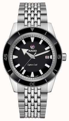 RADO Bracelet acier inoxydable 'Captain Cook' XL Cadran noir R32505153