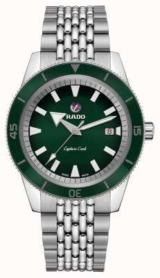 RADO Bracelet acier inoxydable XL 'Captain Cook' Cadran vert R32505313