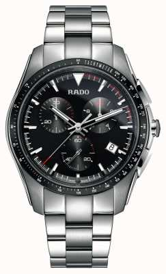Rado Montre XXL hyperchrome chronographe en acier inoxydable à cadran noir R32259153