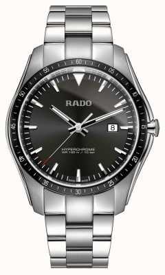 RADO Montre XXL Hyperchrome en acier inoxydable à cadran noir R32502153