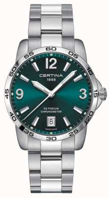 Certina Ds podium 40mm | bracelet en acier inoxydable | cadran vert | C0344511109700