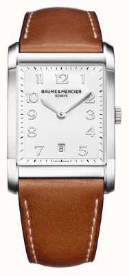 Baume & Mercier Mens hampton | bracelet en cuir marron | cadran blanc BM0A10153