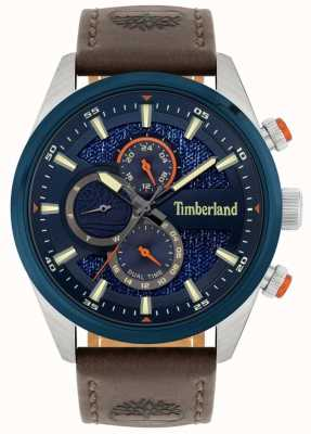 Timberland | Ridgeview des hommes | bracelet en cuir marron | cadran marine | 15953JSTBL/03