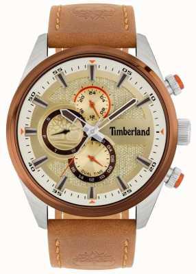 Timberland | Ridgeview des hommes | bracelet en cuir beige | cadran minéral | 15953JSTBN/04