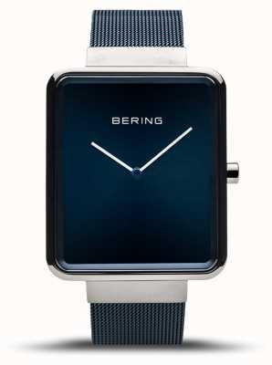 Bering | classique des hommes | bracelet maille bleu | cadran bleu | 14533-307