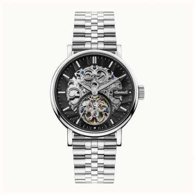 Ingersoll | les charles automatique | cadran noir squelette | bracelet en acier I05804
