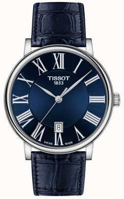 Tissot | hommes | carson premium | bracelet en cuir bleu | cadran bleu | T1224101604300