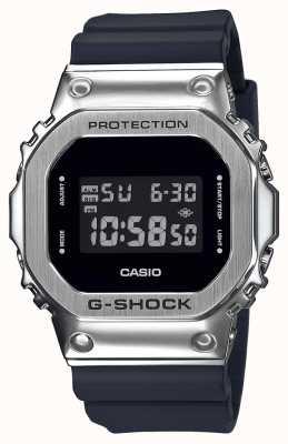 Casio Série de lunette métallique G-shock | bracelet en résine noire | numérique GM-5600-1ER