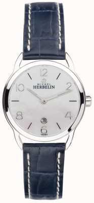 Michel Herbelin Bracelet pour femme en acier inoxydable avec cadran bleu équinoxe 16977/19BL