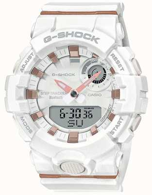 Casio | g-shock g-squad | bracelet en caoutchouc blanc | Bluetooth intelligent | GMA-B800-7AER