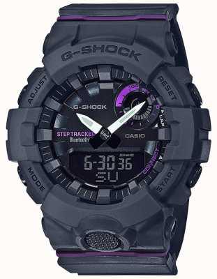 Casio | g-shock g-squad | bracelet en caoutchouc gris | Bluetooth intelligent GMA-B800-8AER