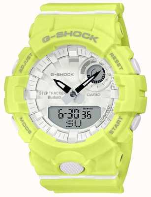 Casio Équipe de choc G-shock | bracelet en caoutchouc jaune | Bluetooth intelligent | GMA-B800-9AER