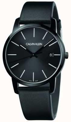 Calvin Klein | la ville des hommes | bracelet en cuir noir | cadran noir | K2G2G4CX
