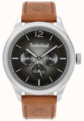 Timberland Style de vie urbain | bracelet en cuir marron | cadran noir | 15940JS/13