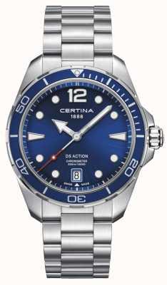 Certina | action ds | chronomètre | cadran bleu C0324511104700