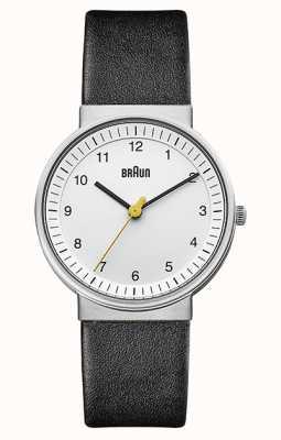 Braun | femmes | quartz simple | bracelet en cuir noir | BN0031WHBKL