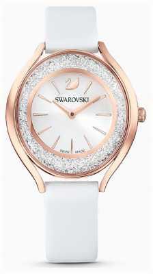 Swarovski | femmes | aura cristalline | bracelet en cuir blanc | 5519453