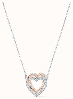 Swarovski | collier coeur infini | blanc | finition en métal mélangé 5518868