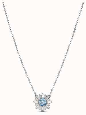 Swarovski | soleil | plaqué rhodium | cristal bleu | pendentif | 5536742