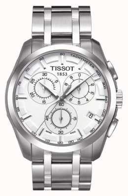 Tissot Mens couturier chronographe en acier inoxydable cadran argenté T0356171103100