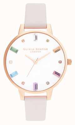 Olivia Burton | femmes | fleur arc-en-ciel | or rose | OB16RB22