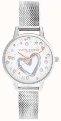 Olivia Burton Bracelet maille or rose & argent OB16LH12