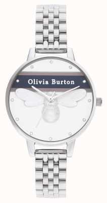 Olivia Burton   femmes   abeille chanceuse universitaire   bracelet en argent   OB16VS07