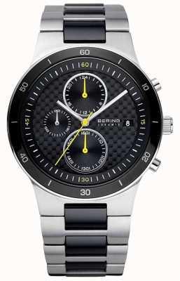 Bering | hommes | bracelet en acier céramique | montre chronographe | 33341-749
