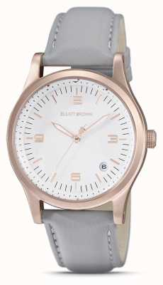 Elliot Brown | femmes | kimmeridge | cadran blanc | bracelet taupe | 405-012-L62