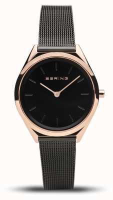 Bering | unisexe | ultra-mince | bracelet en maille noire | 17031-166