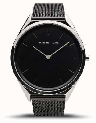 Bering | unisexe | ultra-mince | bracelet en maille noire | 17039-102