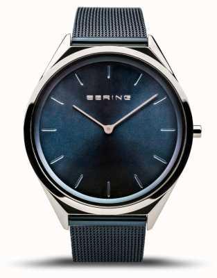 Bering | unisexe | ultra-mince | bracelet en maille bleue | 17039-307