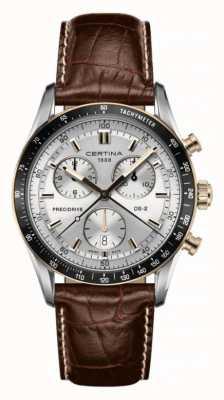 Certina Chronographe DS-2 Bracelet en cuir marron 1/100 sec C0244472603100
