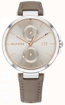 Tommy Hilfiger | femmes | angela | bracelet en cuir marron gris | 1782180