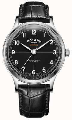 Rotary Patrimoine en édition limitée pour hommes | bracelet en cuir noir | GS05125/04