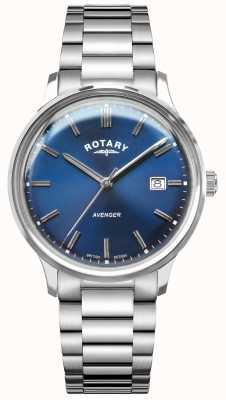 Rotary Vengeur pour hommes | bracelet en acier inoxydable | cadran bleu GB05400/05