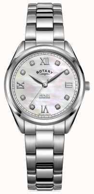Rotary Henley femme | bracelet en acier inoxydable | cadran serti de diamants LB05110/07/D