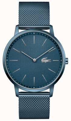 Lacoste Lune pour hommes | bracelet maille pvd bleu | cadran bleu 2011057