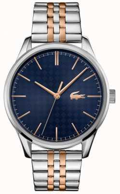 Lacoste Vienne pour hommes | bracelet en acier inoxydable deux tons | cadran bleu 2011048