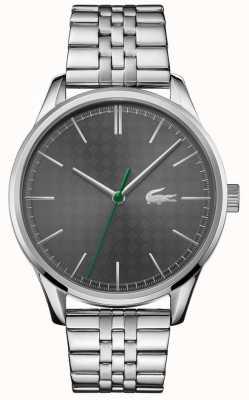 Lacoste Vienne pour hommes | bracelet en acier inoxydable | cadran gris 2011073