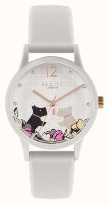Radley | bracelet en silicone blanc cassé pour femme | cadran motif chien floral | RY2986