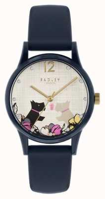 Radley | bracelet en silicone bleu marine pour femme | cadran motif chien floral RY2983