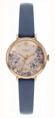 Radley | bracelet en cuir bleu marine pour femme | cadran imprimé floral | RY2978