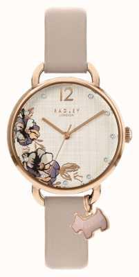 Radley | bracelet en cuir rose pour femme | cadran imprimé floral | RY2982