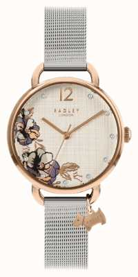 Radley | bracelet maille argent femme | cadran imprimé floral | RY4525